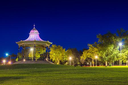 arbor: Arbor in Elder Park of Adelaide city at night. Long exposure effect