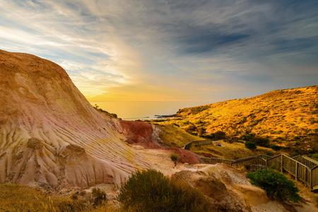 cove: Hallett Cove landscape at sunset. South Australia