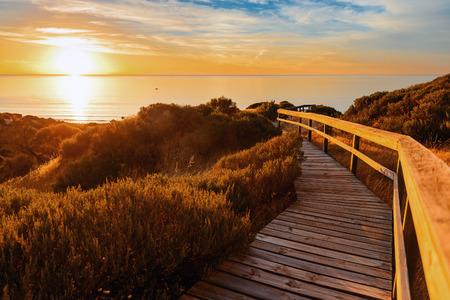 australia landscape: Landscape of South Australia. Hallett Cove at sunset. Stock Photo