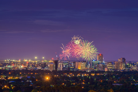 blowup: New Year Fireworks display in Adelaide, South Australia