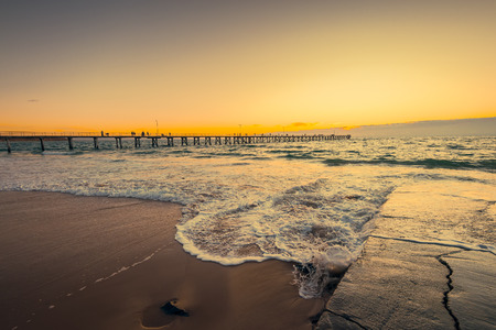 Port Noarlung sunset, South Australia. Color toning effects applied