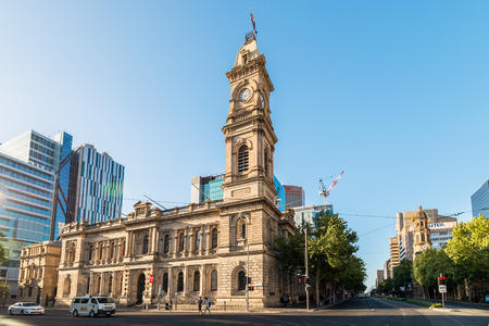 adelaide: Adelaide, Australia - January 3, 2016: Adelaide GPO Post Shop with tower bell located at Victoria Square in Adelaide CBD. Australia Post provides postal services in Australia and its overseas territories. Editorial