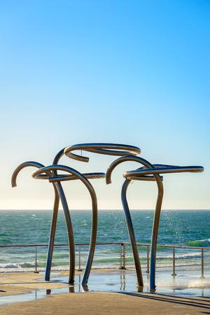 Public showers at Henley Beach, South Australia