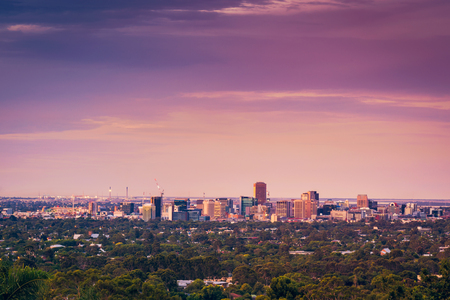 Adelaide city view from the hills