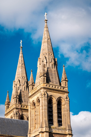 St. Peters Cathedral in Adelaide, South Australia. View from Pennington Gardens