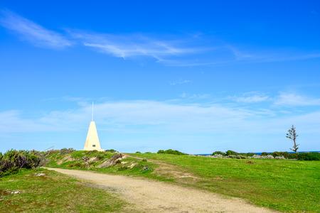 elliot: Port Elliot Obelisk at Horseshoe Bay, South Australia Stock Photo