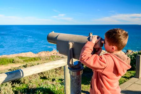 elliot: Kid watching whales at Port Elliot, South Australia