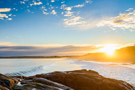 elliot: Picturesque sunset at Port Elliot, Horseshoe Bay, South Australia Stock Photo