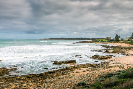 middleton: Picturesque view at Surfers beach at  Middleton, South Australia Stock Photo