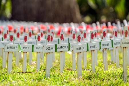 adelaide: Adelaide, Australia - November 11, 2016:  Remembrance Day traditional ceremony in Adelaide, South Australia