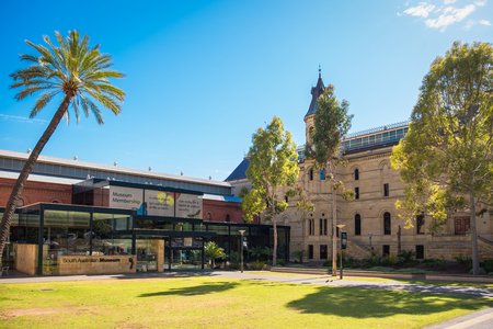 adelaide: Adelaide, Australia - November 11, 2016:  South Australian Museum located on North Terrace in Adelaide CBD on a day