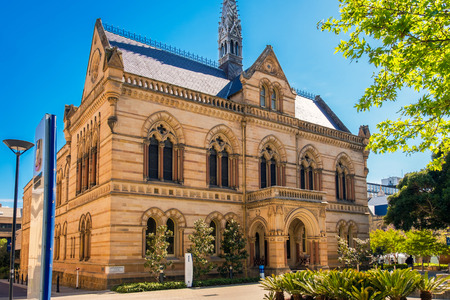 Adelaide, Australia - November 11, 2016:  The University of Adelaide â�� Mitchell Building on North Terrace in Adelaide CBD on a day 新闻类图片