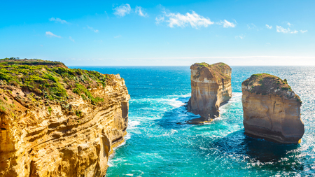 The Razorback, scenic coastal view of Great Ocean Road, Victoria, Australia Stock Photo