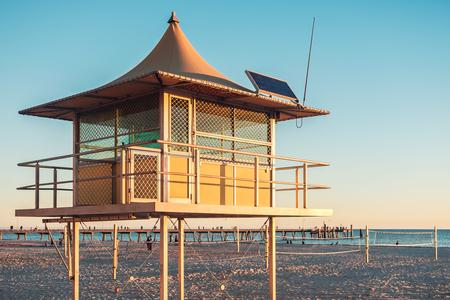 Surf life saving tower at Glenelg Beach, South Australia