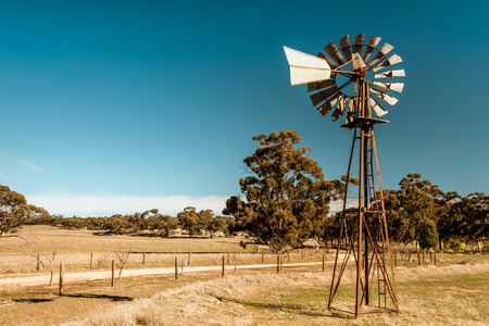 Old rusty windmill near Barossa valley in South Australia