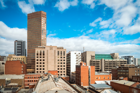 Rooftop views of Adelaide on a day, South Australia Stock Photo