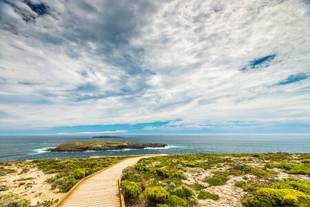 Fliders Chase park viewed towards Admirals Arch,  Kangaroo Island, South Australia
