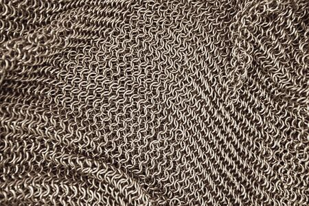 Authentic chainmail pattern background used as body armor during middle age