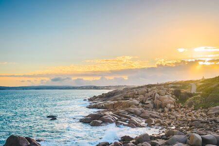 Beautiful sunset at Port Elliot, Fleurieu Peninsula, South Australia Stok Fotoğraf - 148179601