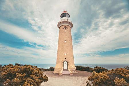 Iconic Cape Du Couedic Lighthouse on Kangaroo Island, Flinders Chase national park, South Australia