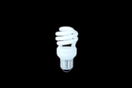Energy saving light bulbs,isolated on black background