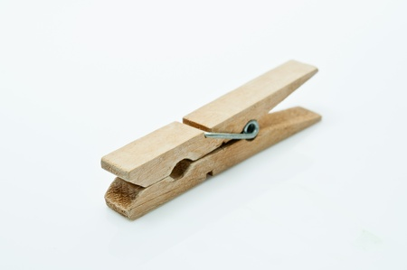 clothes peg: The Clothes peg  on a white background