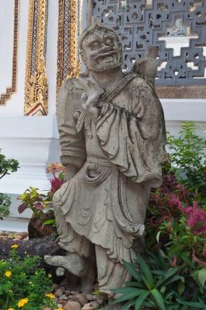 Sculpture stone giant  Phra Kaew Temple, Bangkok Thailand, Public art  photo