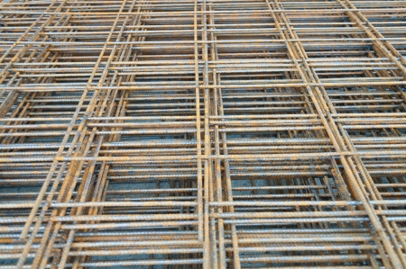 Steel rods or bars Stacked For Construction photo