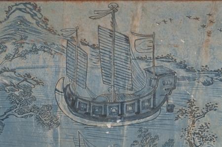 Chinese painting  in Phra Kaew Temple, Bangkok Thailand, Public art photo