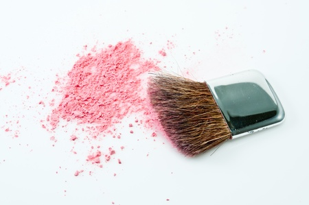 Makeup cheeks and eye  on white background. Stock Photo - 14810923