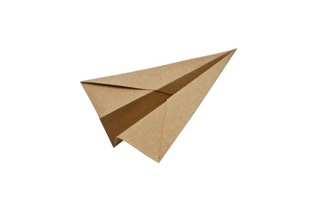 Paper aircraft, Paper Plane on a white background,