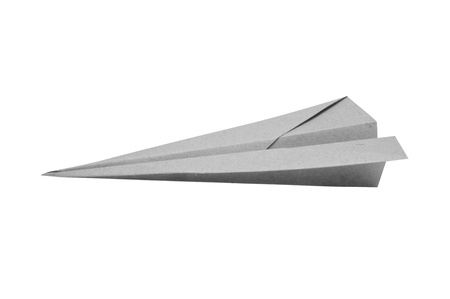 business symbols and metaphors: Paper aircraft, Paper Plane on a white background,