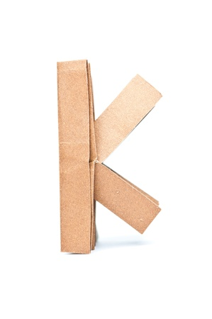 K-Origami alphabet letters recycled paper craft fold. photo