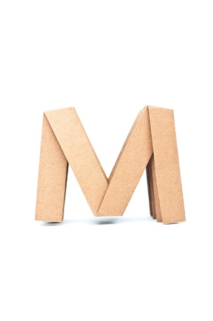 M-Origami alphabet letters recycled paper craft fold. photo