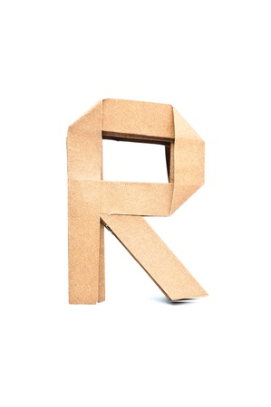 R-Origami alphabet letters recycled paper craft fold. photo
