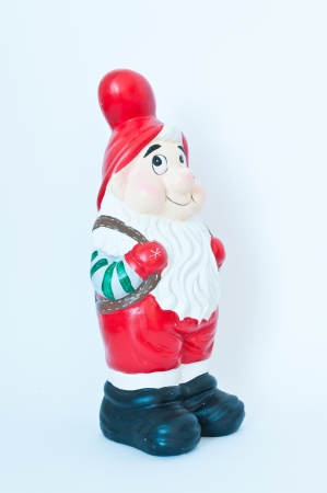 Santa claus doll looks pretty good and kindliness . photo