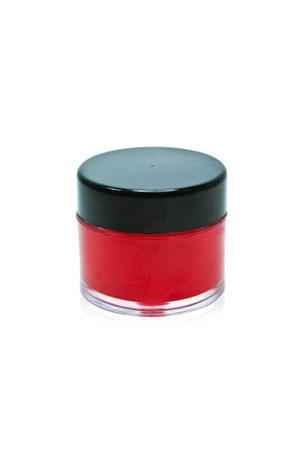 bezel: Jar lip balm pink black bezel. Packaging. Stock Photo