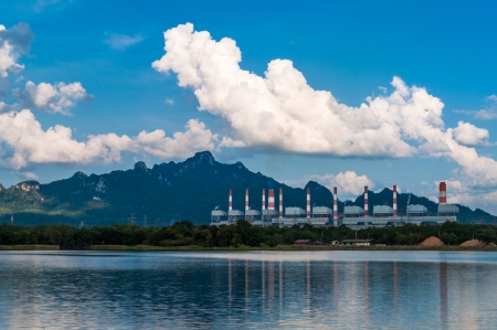 Mae Moh coal power plant in Lampang, Thailand. Stock Photo - 16515459