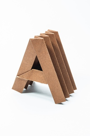 A-Origami alphabet letters recycled paper craft fold. photo