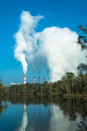 Mae Moh coal power plant in Lampang, Thailand. Stock Photo - 17358520