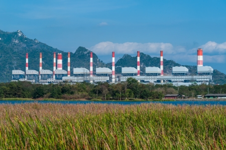 Mae Moh coal power plant in Lampang, Thailand. Stock Photo - 17358566