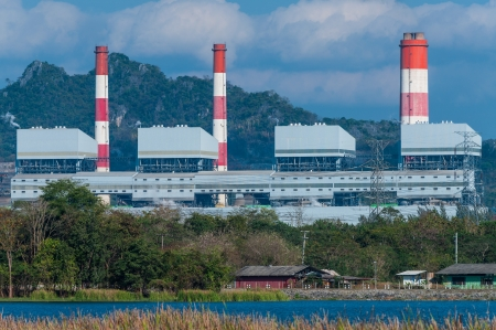 Mae Moh coal power plant in Lampang, Thailand. Stock Photo - 17358573