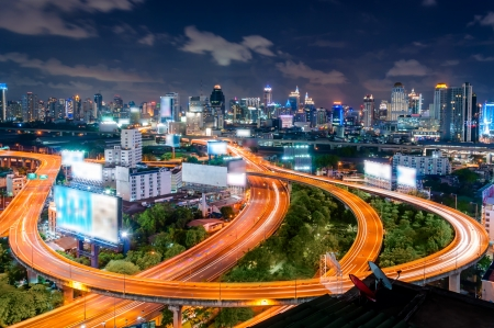Bangkok Expressway and Highway top view, Thailand photo