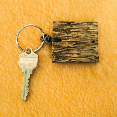 A key ring vintage brown wooden sign photo