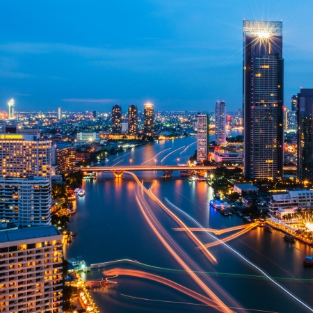Modern city view of Bangkok, Thailand. Cityscape. Stock Photo