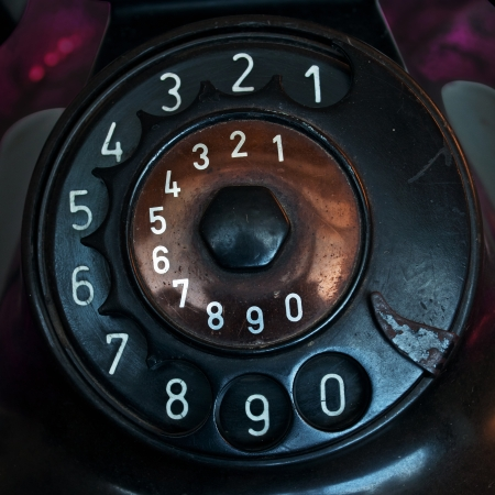 Black antique Telephone numbers vintage style.Retro and classic Stock Photo - 22386446