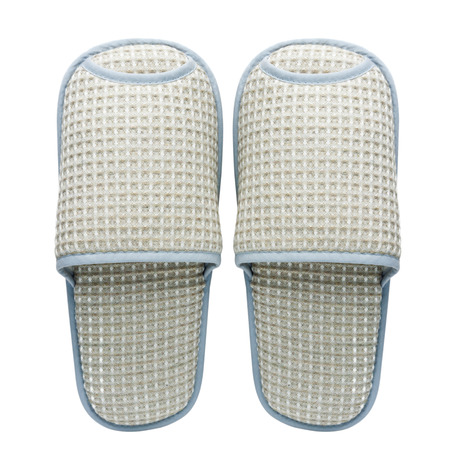 Pair of house slippers with reflection on white background Stock Photo - 22386204