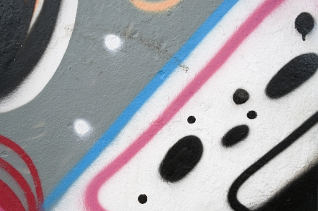 Graffiti on a wall. Colorful abstract pattern for backgrounds.