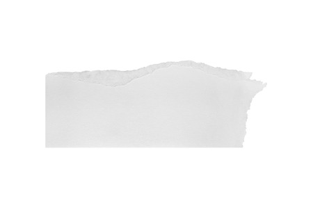 Torn white paper blank on white background with clipping paths. photo