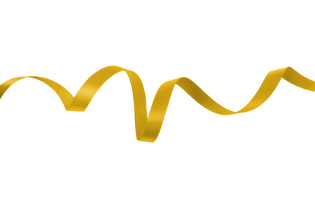 gold ribbon: Yellow gold ribbon on a white background with clipping paths.